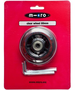 REAR WHEEL 80mm CLEAR